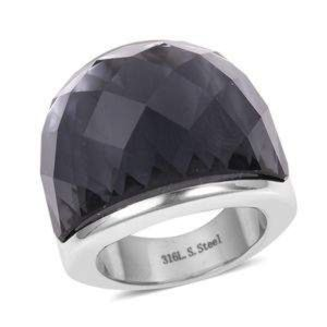 Jewelry - Simulated Silver Sapphire Stainless Steel Ring